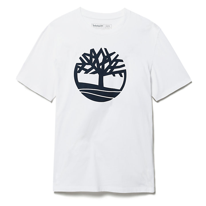 Kennebec River Tree T-Shirt für Herren in Weiß-