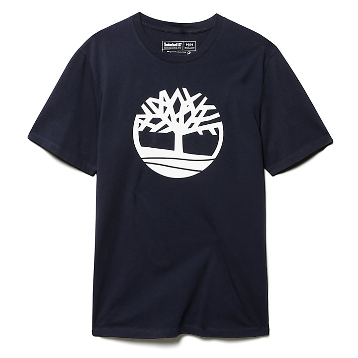 Kennebec River Tree T-Shirt for Men in Navy-