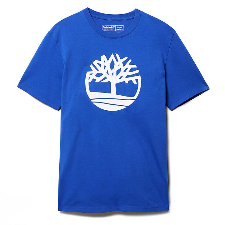 Camiseta Kennebec River con Árbol para Hombre en azul-