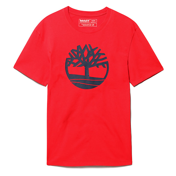 Kennebec River Tree T-Shirt for Men in Red-