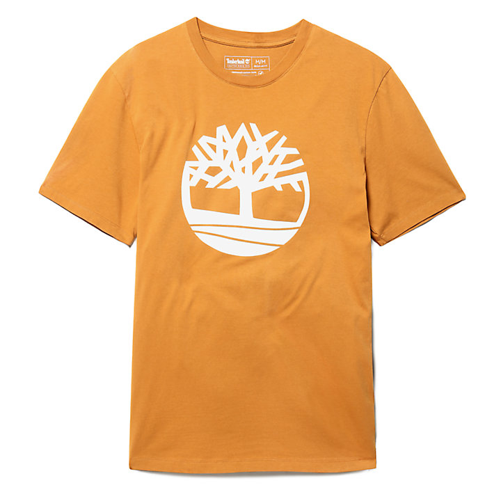 Kennebec River Tree T-shirt voor Heren in geel-