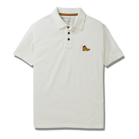 Boot Logo Polo Shirt for Men in White | Timberland