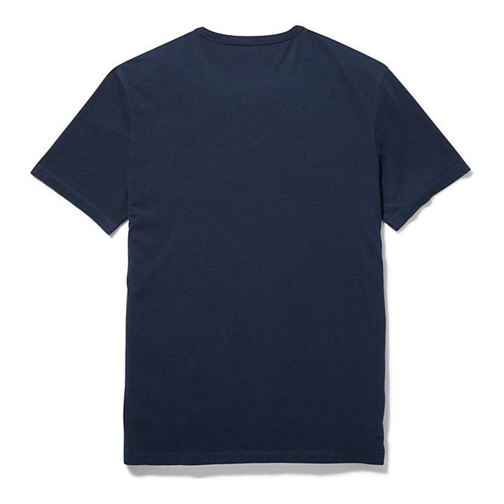 Kennebec River Handwriting Logo T-Shirt for Men in Navy-