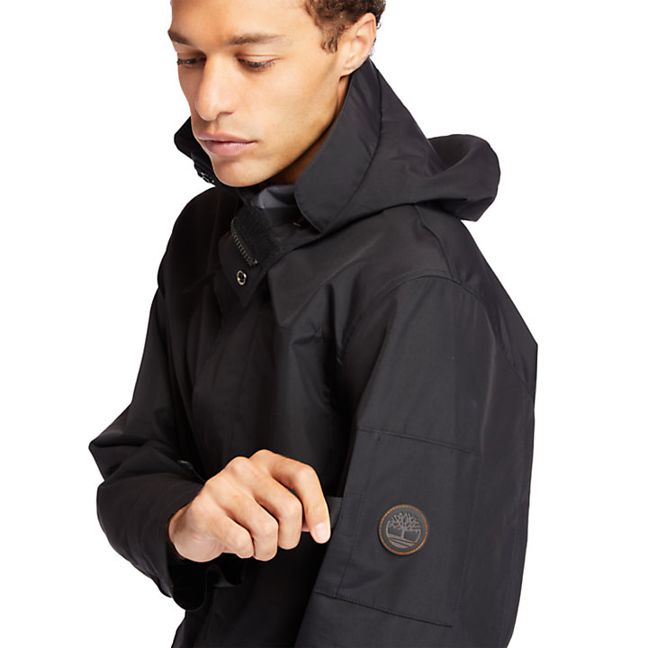 Reversible Commuter Overcoat for Men in Black-