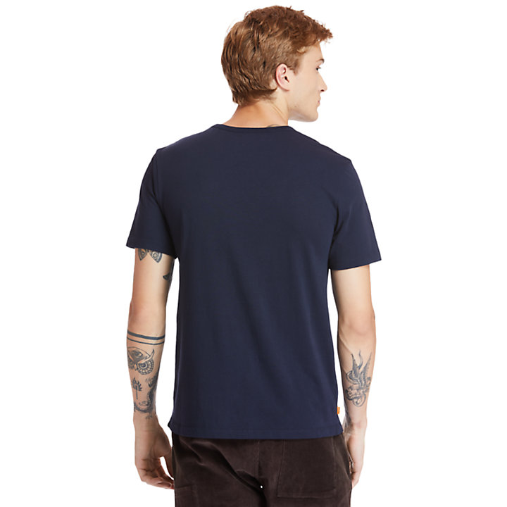 Little Cold River T-Shirt für Herren in Navyblau-