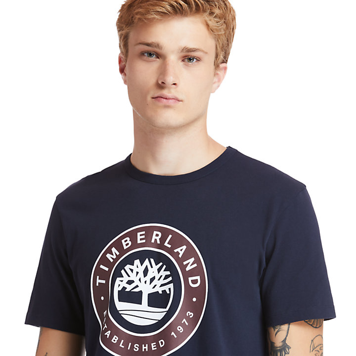 Little Cold River T-Shirt for Men in Navy-