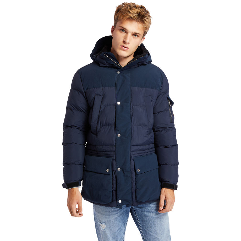 Timberland Mount Magalloway Jacket For Men In Navy Blue, Size XXL
