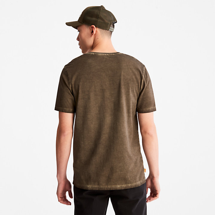 Lamprey River T-shirt for Men in Dark Green-