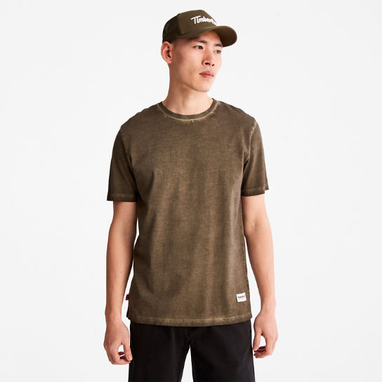 Lamprey River T-shirt for Men in Dark Green | Timberland
