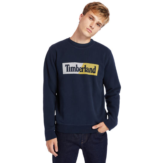 Exeter River Logo Sweatshirt for Men in Navy | Timberland