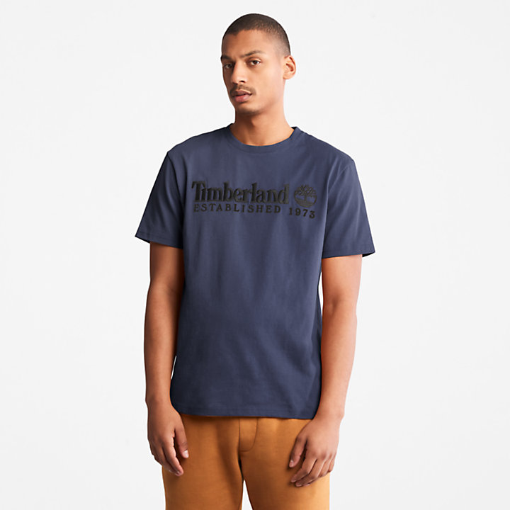 Outdoor Heritage Logo T-shirt voor heren in marineblauw-