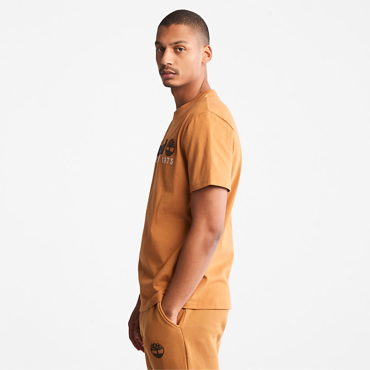T-shirt à logo Outdoor Heritage pour homme en orange-