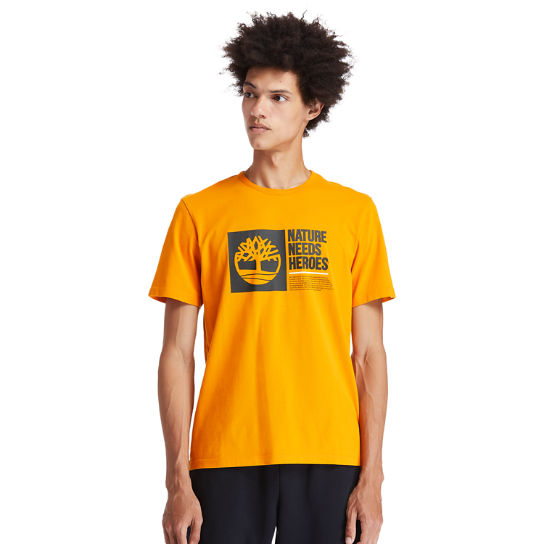 T-shirt Nature Needs Heroes™ pour homme en orange | Timberland