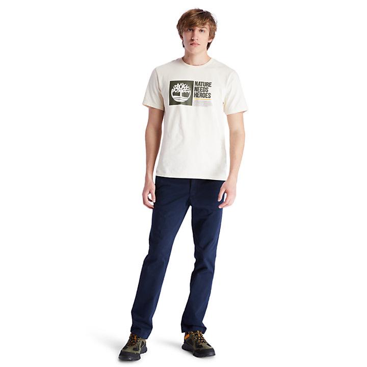 Nature Needs Heroes™ T-shirt voor heren in beige-