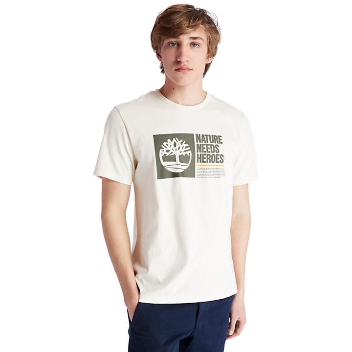Nature Needs Heroes™ T-Shirt for Men in Beige-