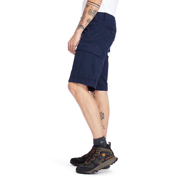 Ultrastretch Cargo Shorts for Men in Navy-