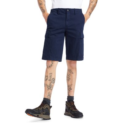 Ultrastretch+Cargo+Shorts+voor+Heren+in+marineblauw