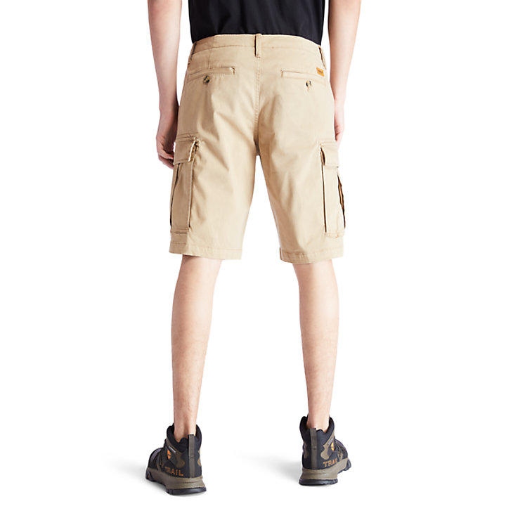 Pantalón Corto Cargo Ultraelástico para Hombre en caqui-