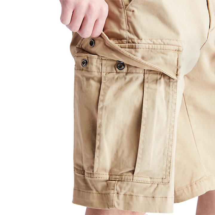 Shorts Cargo da Uomo Ultraelasticizzati in khaki-
