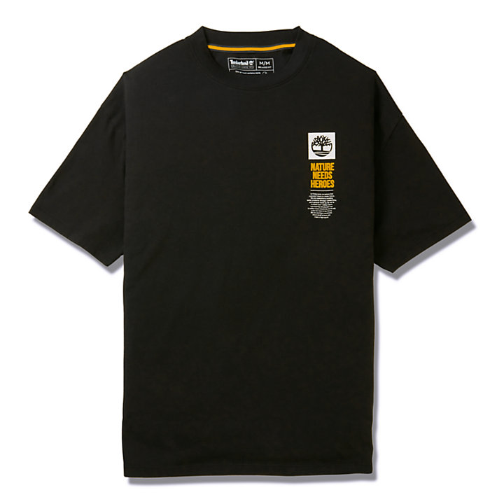 EK+ Graphic Back Print T-shirt for Men in Black-