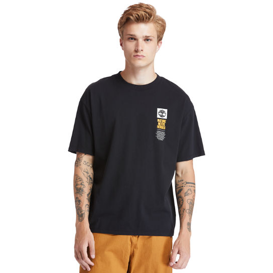 EK+ Graphic Back Print T-shirt for Men in Black | Timberland
