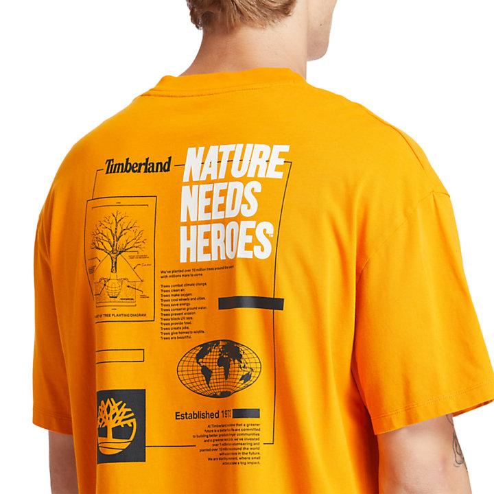 EK+ Graphic Back Print T-shirt for Men in Orange-