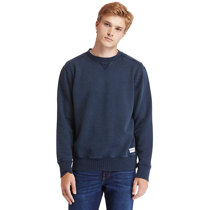 Lamprey River Crew Neck Sweatshirt for Men in Navy-
