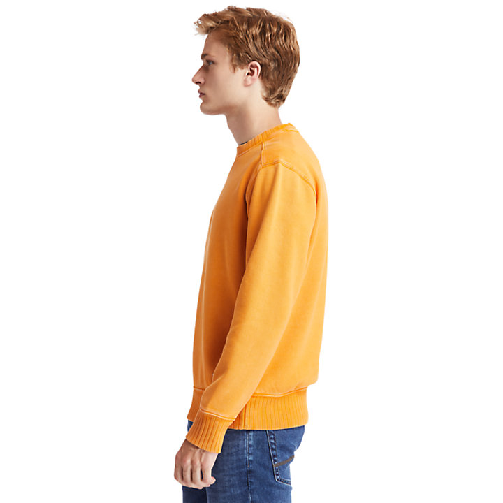 Lamprey River Crew Neck Sweatshirt for Men in Orange-