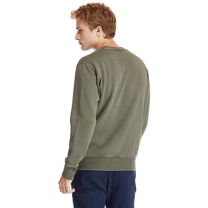 Lamprey River Crew Neck Sweatshirt voor Heren in groen-