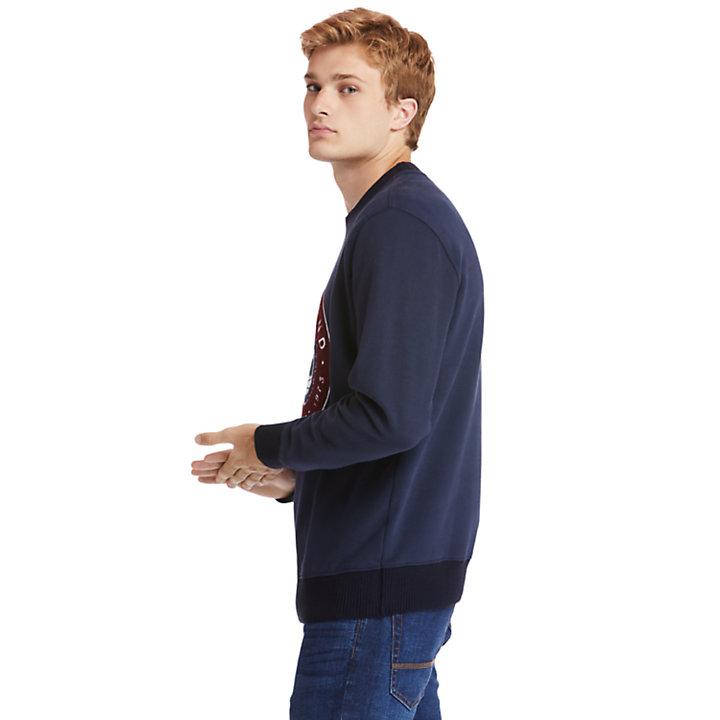 Sweat-shirt Little Cold River pour homme en bleu marine-