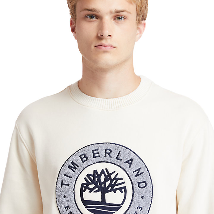 Little Cold River Sweatshirt for Men in Beige-