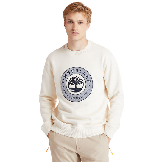 Little Cold River Sweatshirt for Men in Beige | Timberland