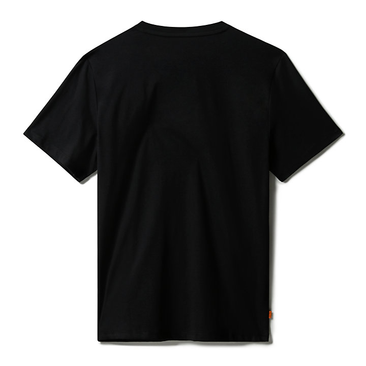 Mink Brook 3D-embossed T-Shirt for Men in Black-
