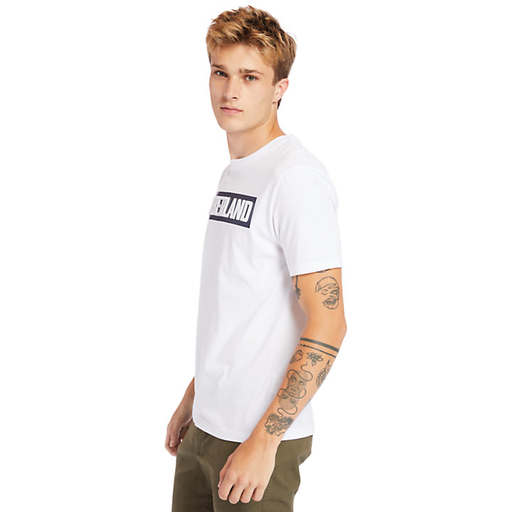 Mink Brook 3D-embossed T-Shirt for Men in White-