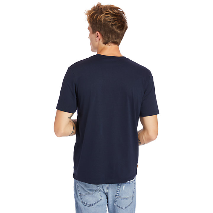 Mink Brook 3D-embossed T-Shirt for Men in Navy-