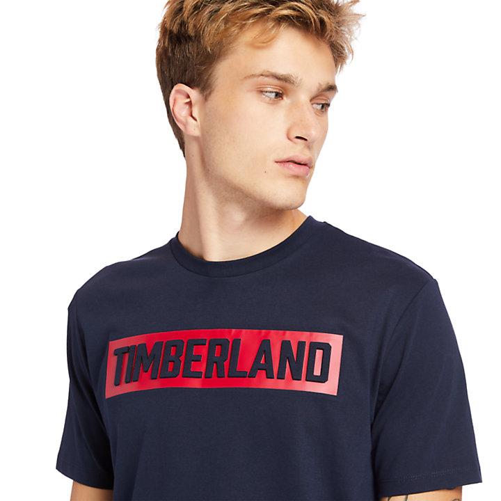 Mink Brook T-shirt met 3D-opdruk voor heren in marineblauw-