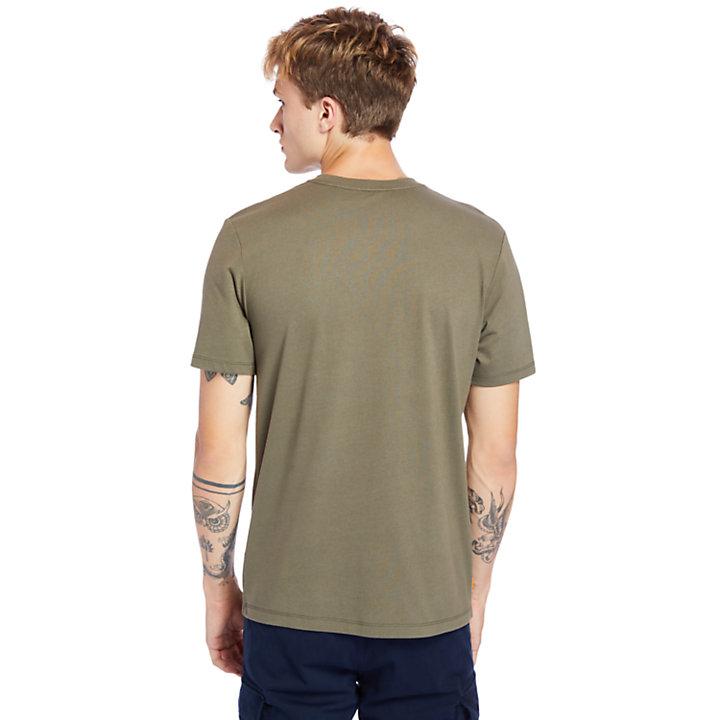 Mink Brook 3D-embossed T-Shirt for Men in Dark Green-