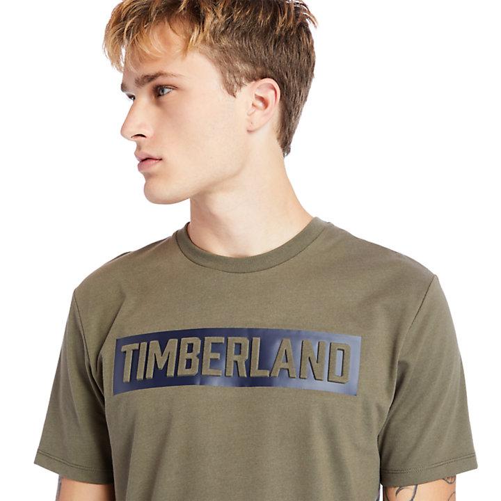 Mink Brook T-Shirt mit 3D-Prägung für Herren in dunkelgrün-