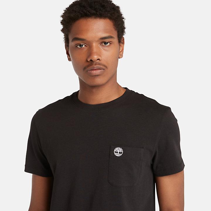 Dunstan River Pocket T-shirt for Men in Black-