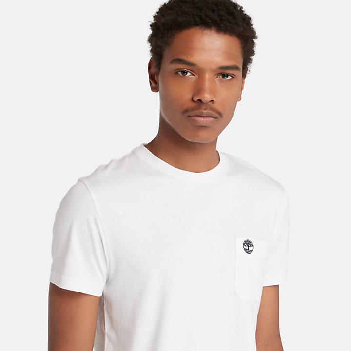 Dunstan River Pocket T-shirt for Men in White-