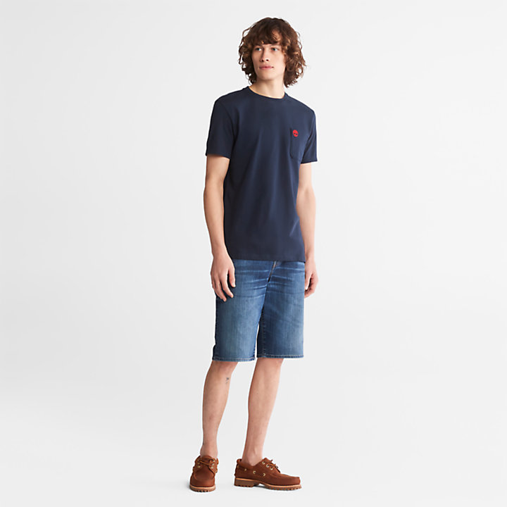 Dunstan River Pocket T-shirt for Men in Navy-