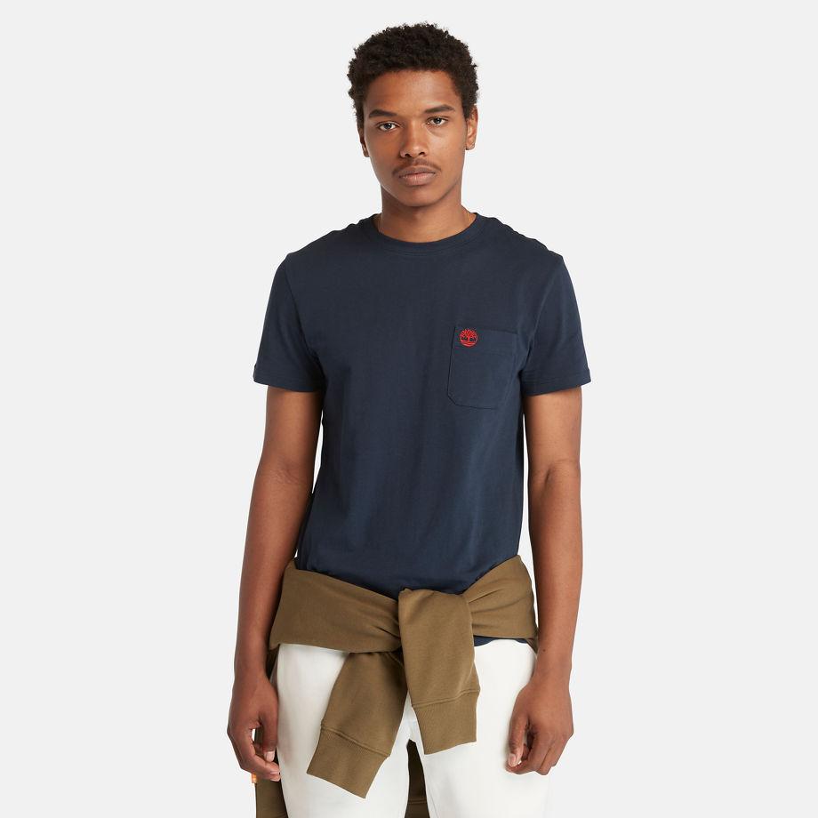 Timberland Dunstan River Pocket T-shirt For Men In Navy Navy, Size XL