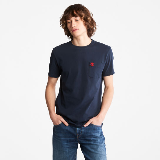 Dunstan River Pocket T-shirt for Men in Navy | Timberland