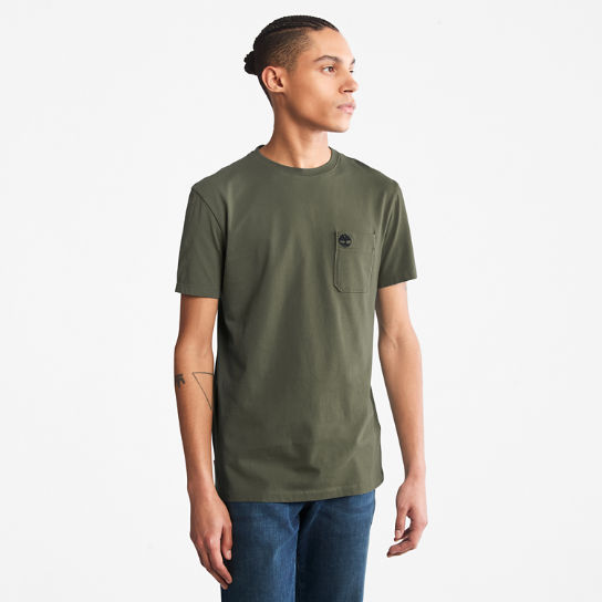 Dunstan River Pocket T-shirt for Men in Green | Timberland