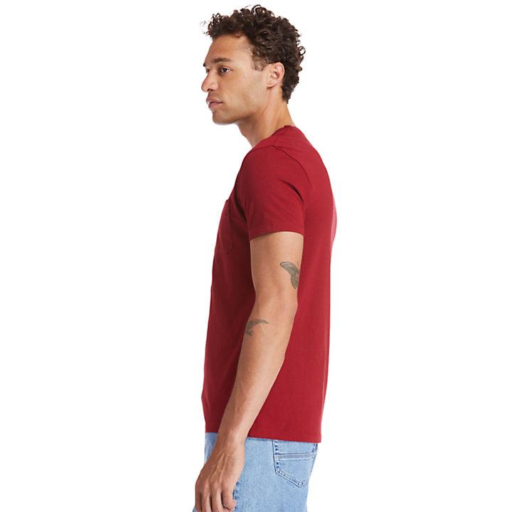 Dunstan River Pocket T-shirt for Men in Red-
