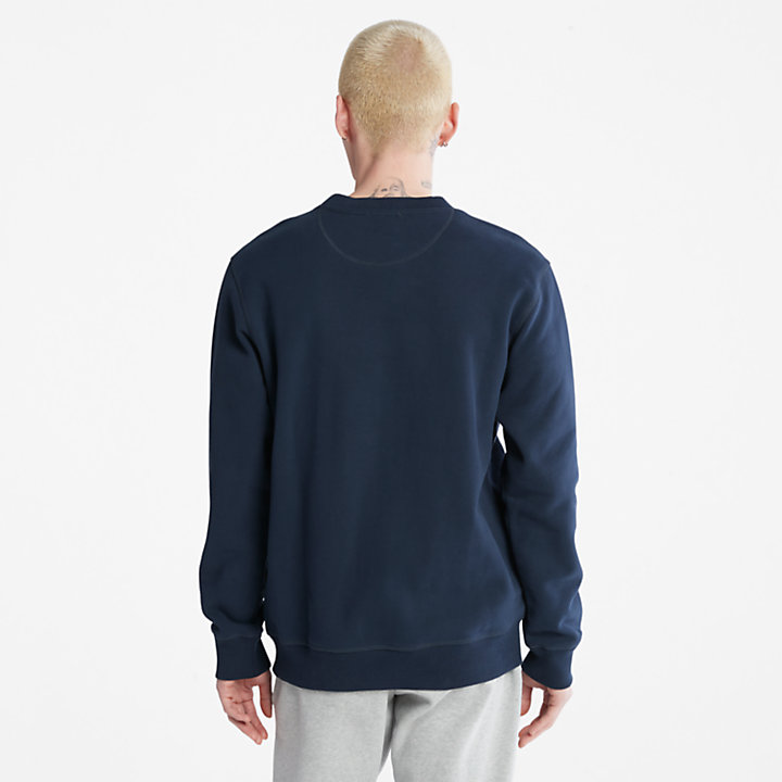 Heritage Est. 1973 Crew Sweatshirt for Men in Navy-