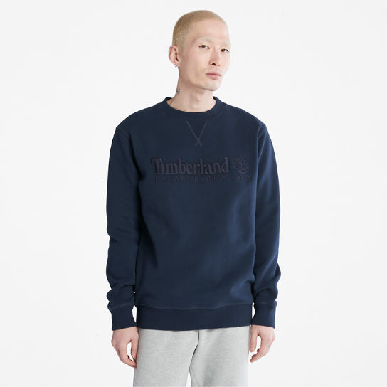 Heritage Est. 1973 Crew Sweatshirt for Men in Navy | Timberland