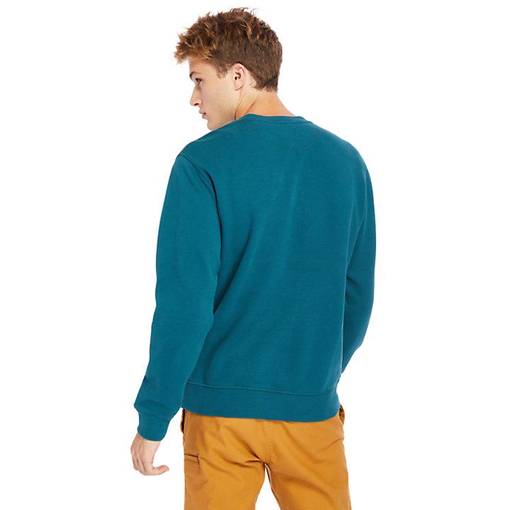 Heritage Est. 1973 Crew Sweatshirt for Men in Teal-