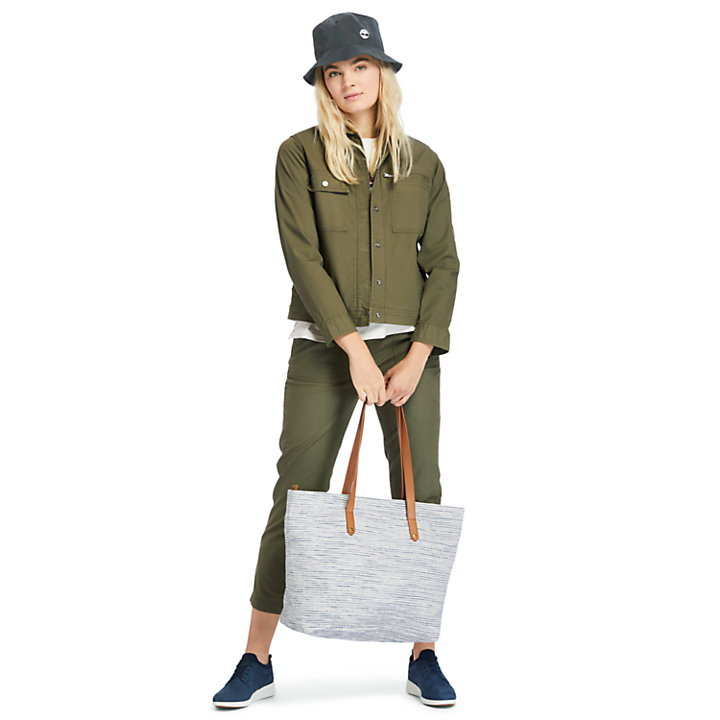 Utility Jacket for Women in Dark Green-