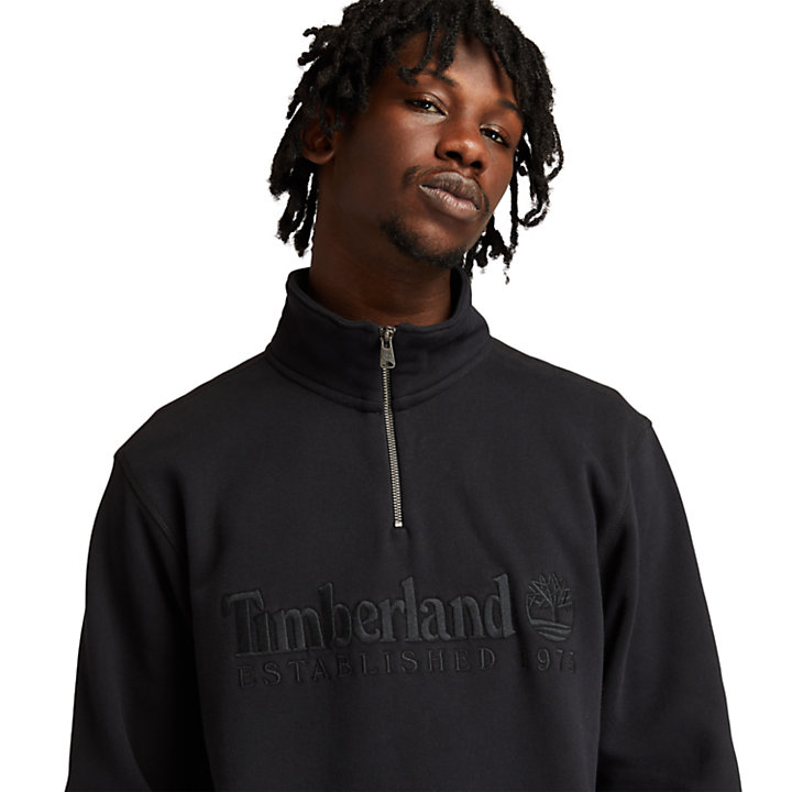 Men's Outdoor Heritage Zip-Neck Sweatshirt in Black-